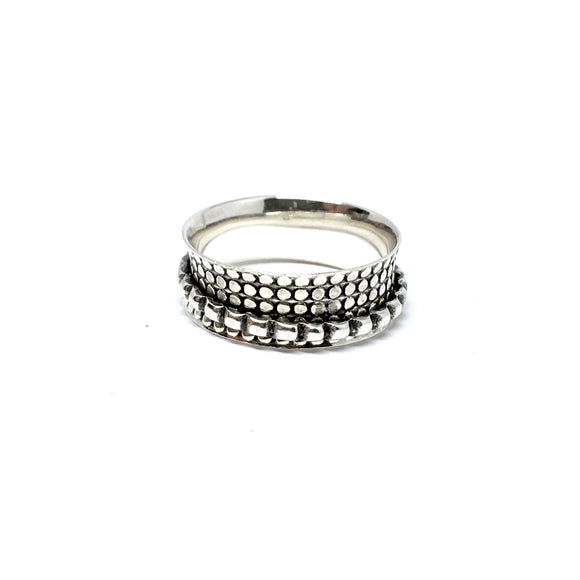 THE EMORY STERLING SILVER MEDITATION / SPIN RING