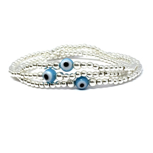 THE EVIL EYE STERLING SILVER BRACELET