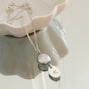 Freshwater Pearl Initial Drop Necklace