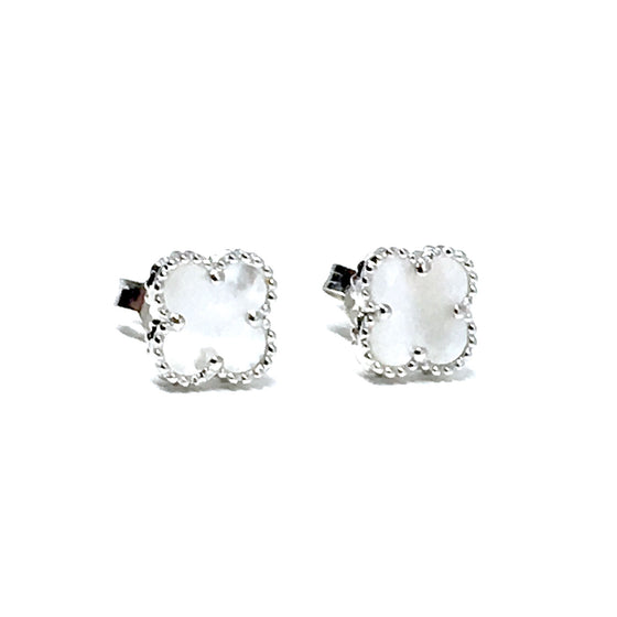 WHITE CLIFF PEARL STERLING SILVER EARRINGS (8mm)