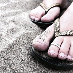 SUMMER TOE RING - STERLING SILVER
