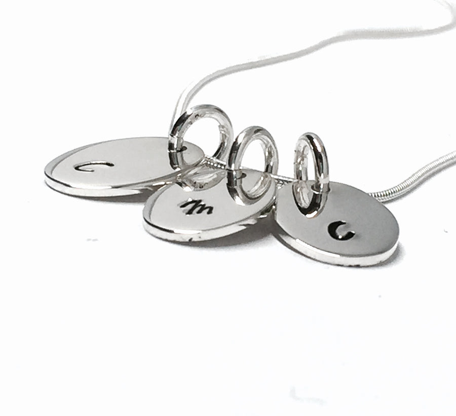Sterling Silver Double/Triple Initial Necklace
