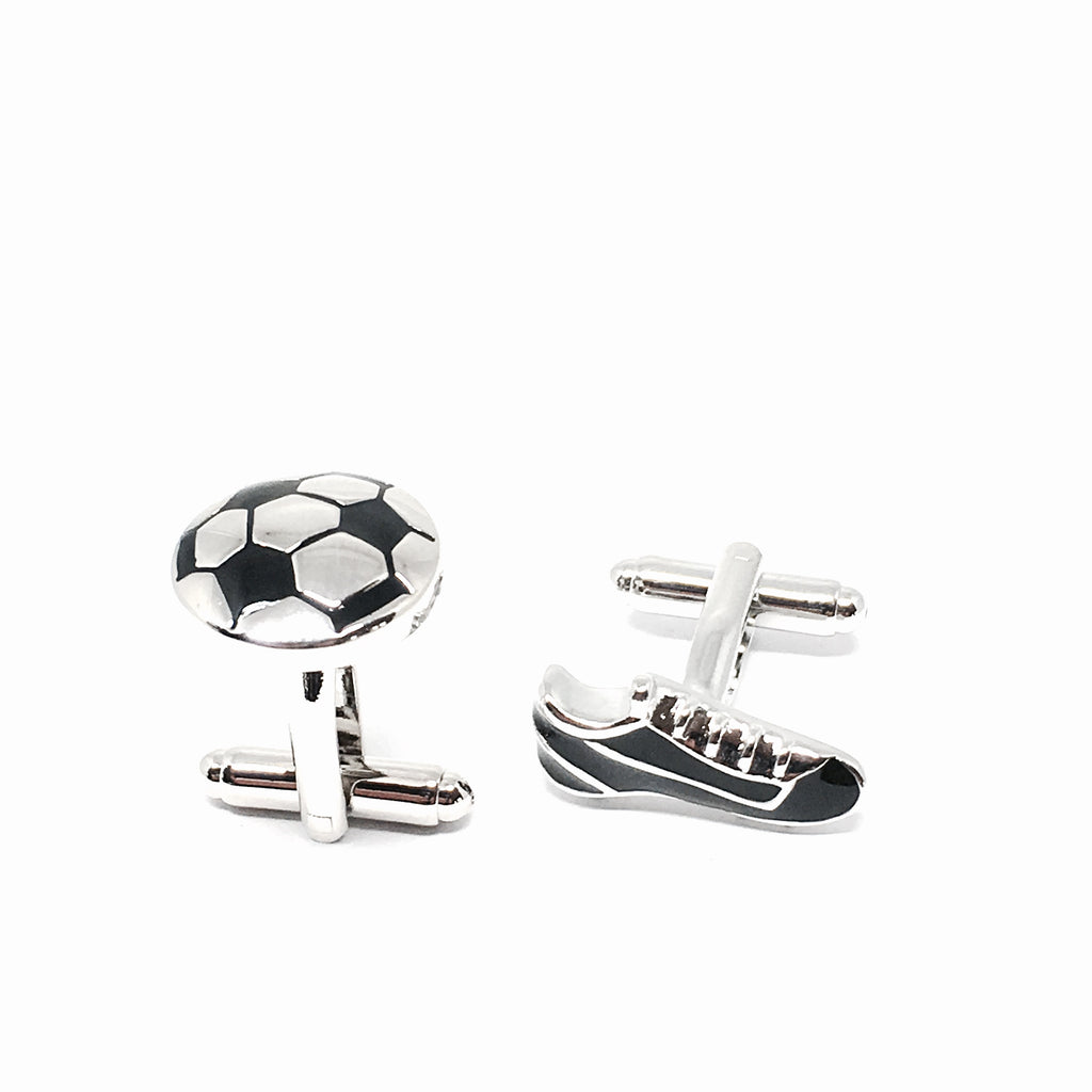 Cuff Links - Soccer Ball & Boot