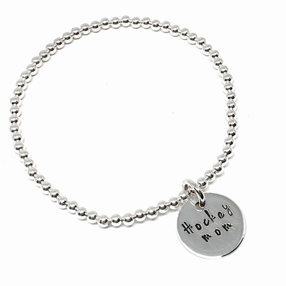 Sterling Silver CUSTOMIZABLE Mom 3mm Bracelet