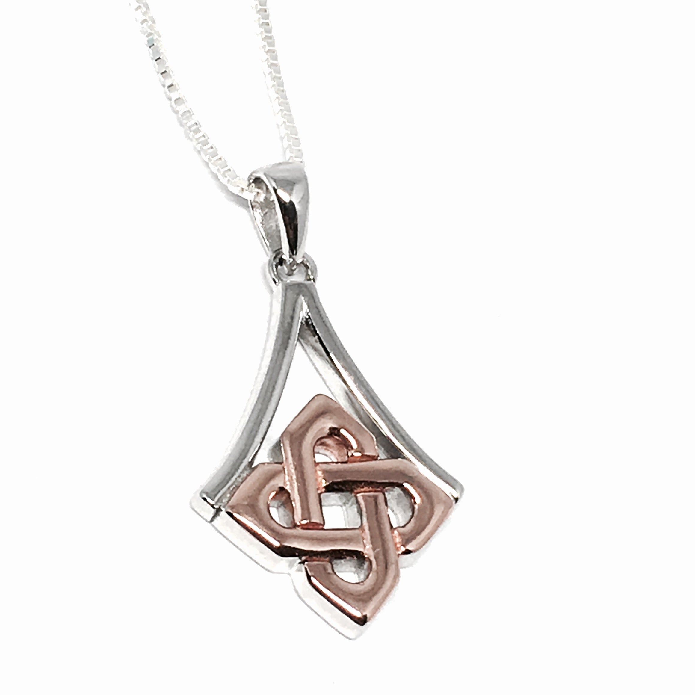 celtic model product wishbone pendant necklace newgrange jewelry ice