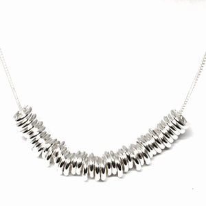 Sterling Silver Layer-Ring Necklace