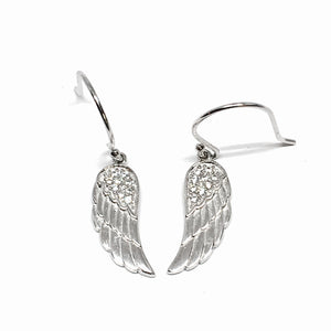 Sterling Silver Angel wing drop Earrings