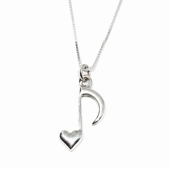 Sterling Silver Music Lover Necklace