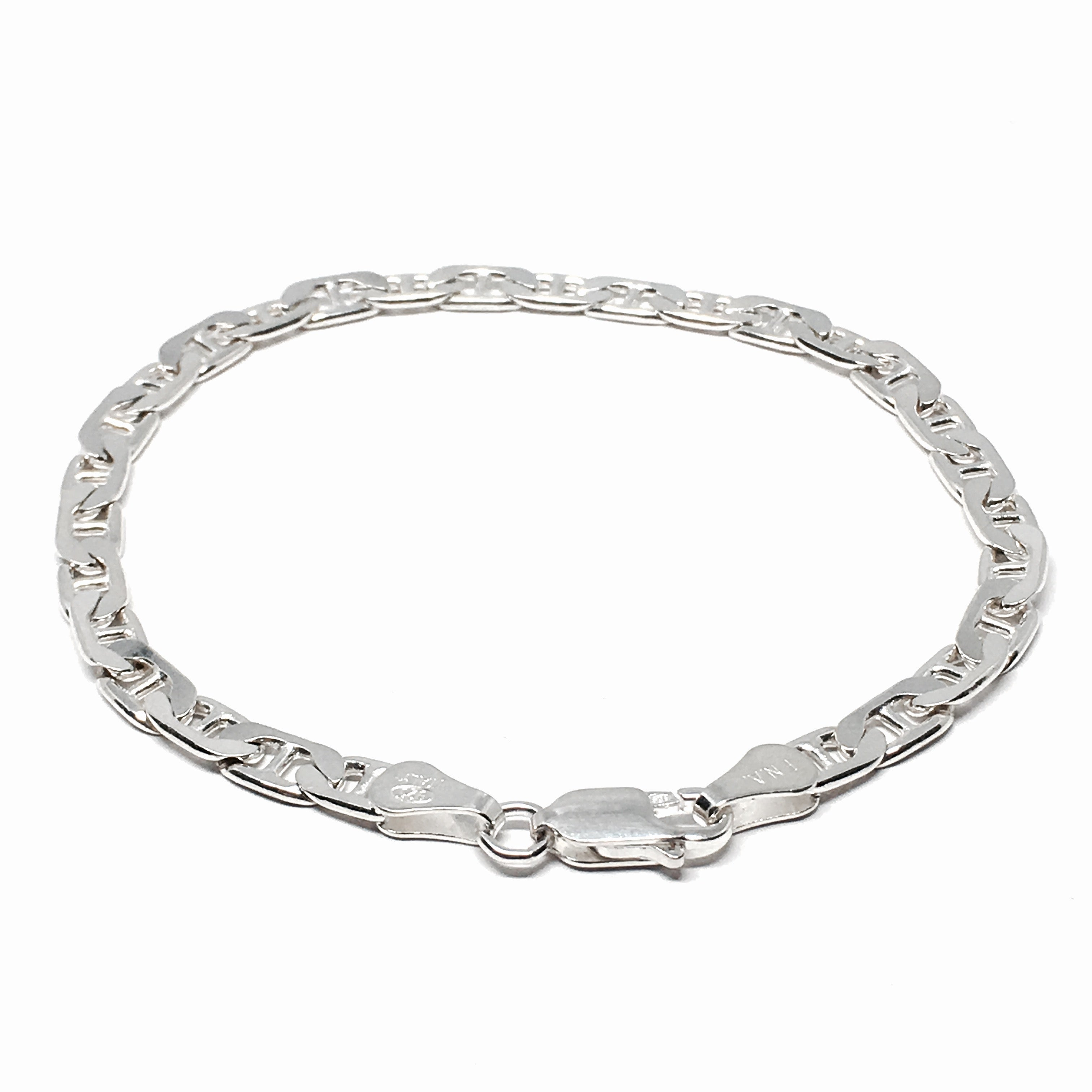 Sterling Silver Mariner Link Bracelet Made In Italy Contagious