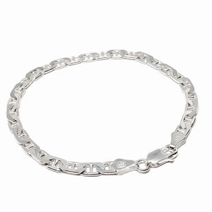 Sterling Silver Mariner Link Bracelet - Made in Italy