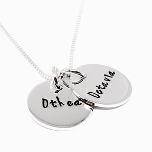 Sterling Silver Double Name Necklace