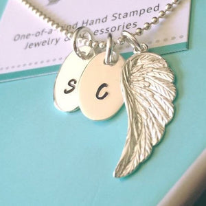 Double Charm Angel Necklace