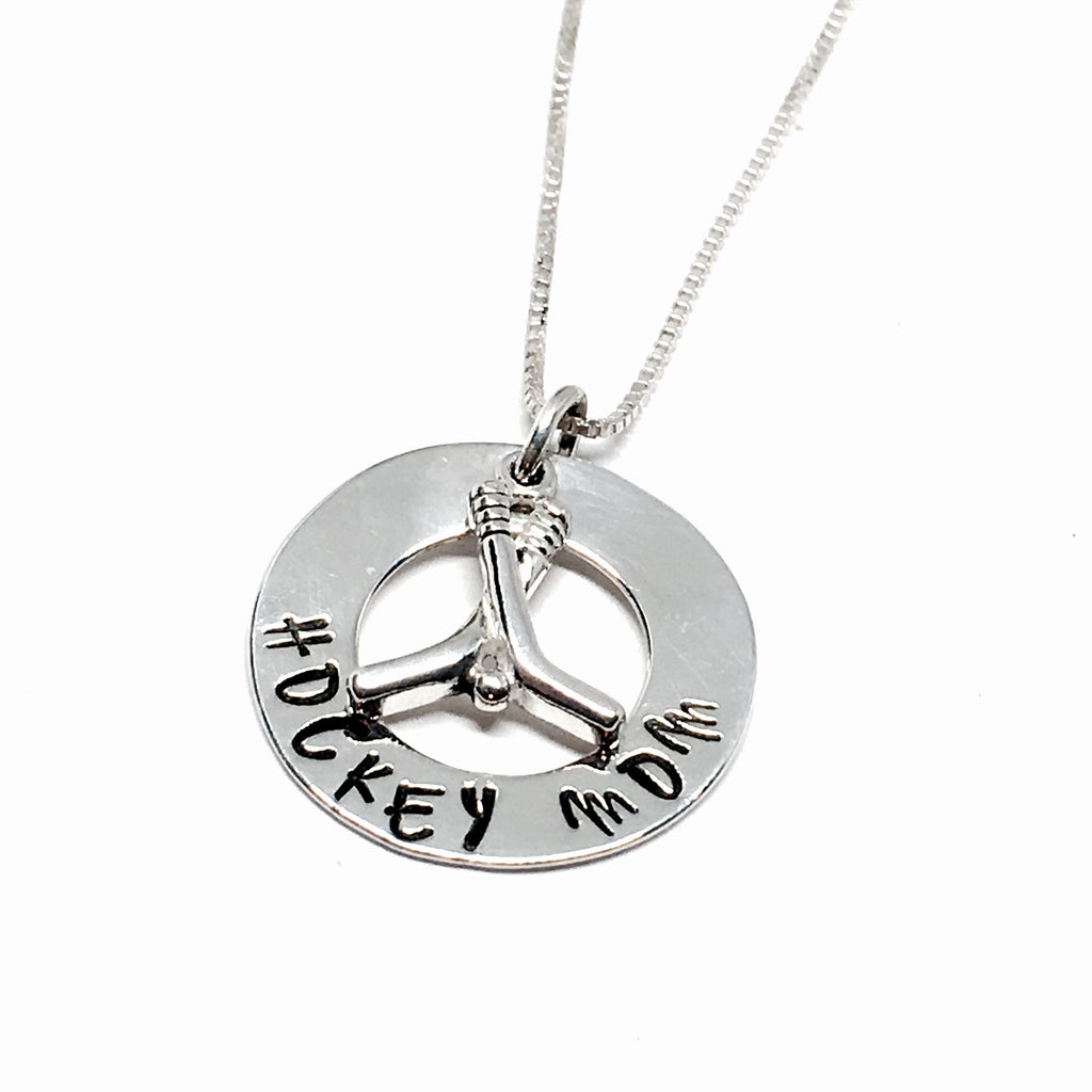 Custom Hand Stamped Hockey Necklace