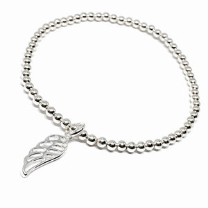 Angel Wing Stretch Bracelet