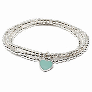 "THE ""FOREVER"" STERLING SILVER HEART BRACELET"