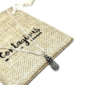 Oxidized Sterling Silver Pineapple Necklace