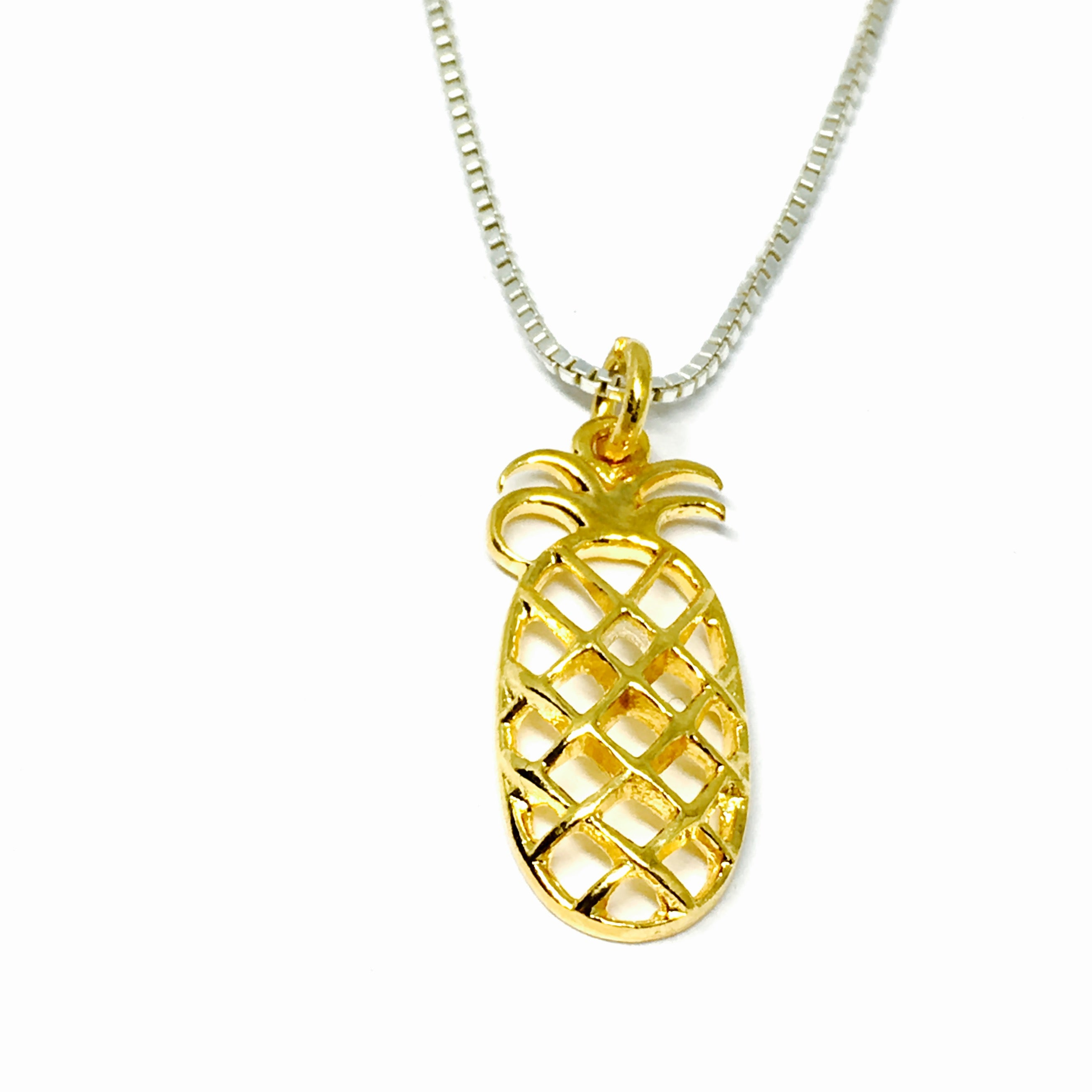 ca friends pineapple best necklace print necklaces split tone gold pendant heart