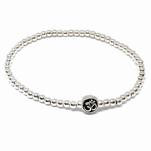 3mm Sterling Silver Ball Bead Om Bracelet
