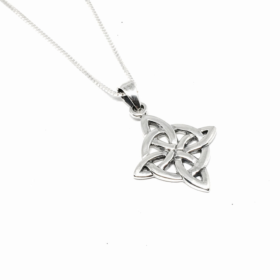 Sterling Silver Celtic Circle Knot Necklace