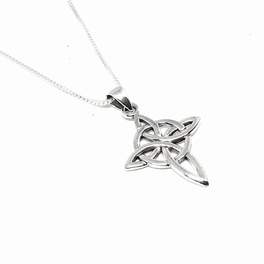 Sterling Silver Celtic Circle Cross Necklace