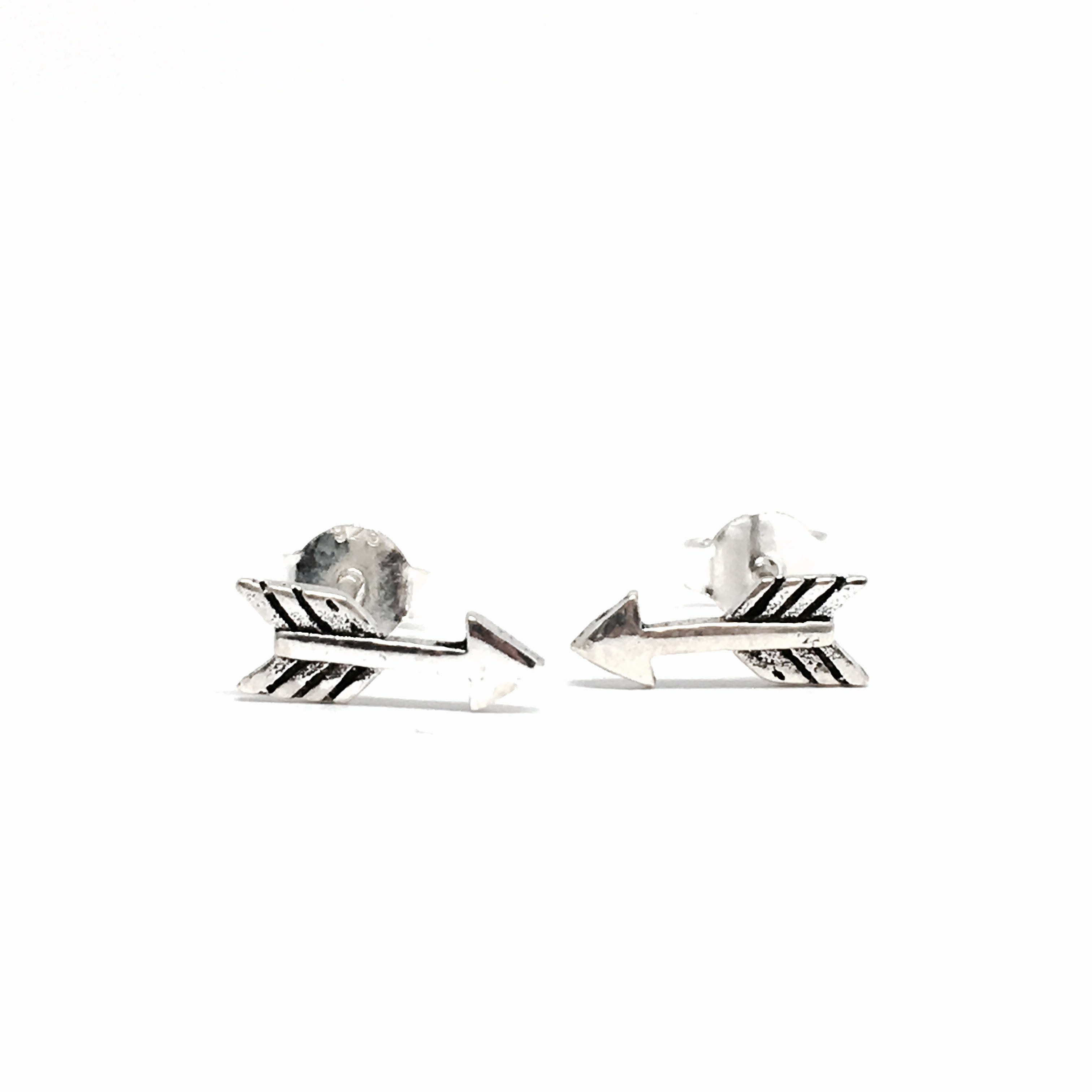 1e842dc13 SMALL STERLING SILVER ARROW EARRINGS - Contagious Designs