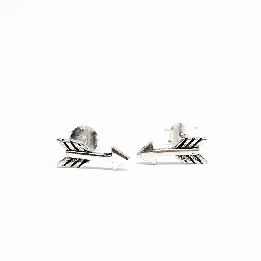 SMALL STERLING SILVER ARROW EARRINGS