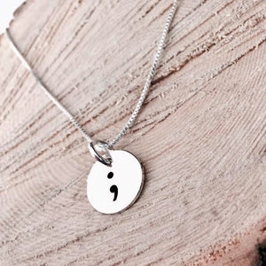 12mm Customizable Sterling Silver Charm Necklace