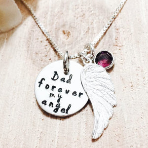 Dad - Forever my angel necklace