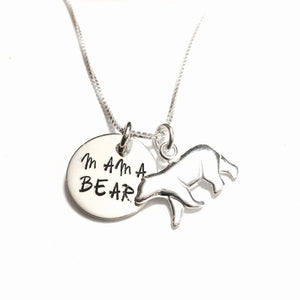 Sterling Silver Mama Bear Necklace