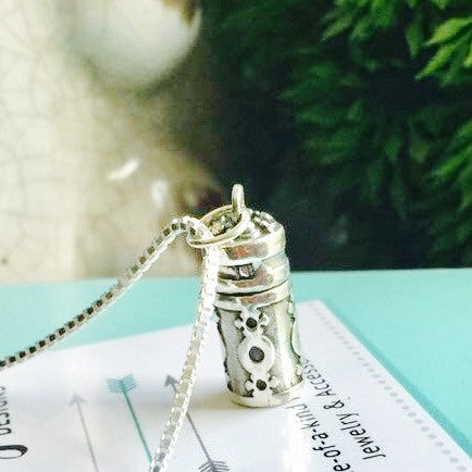 Sterling Silver Urn / memory necklace