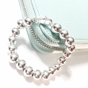 Sterling Silver Ball Bracelet (10mm) - Made in Italy