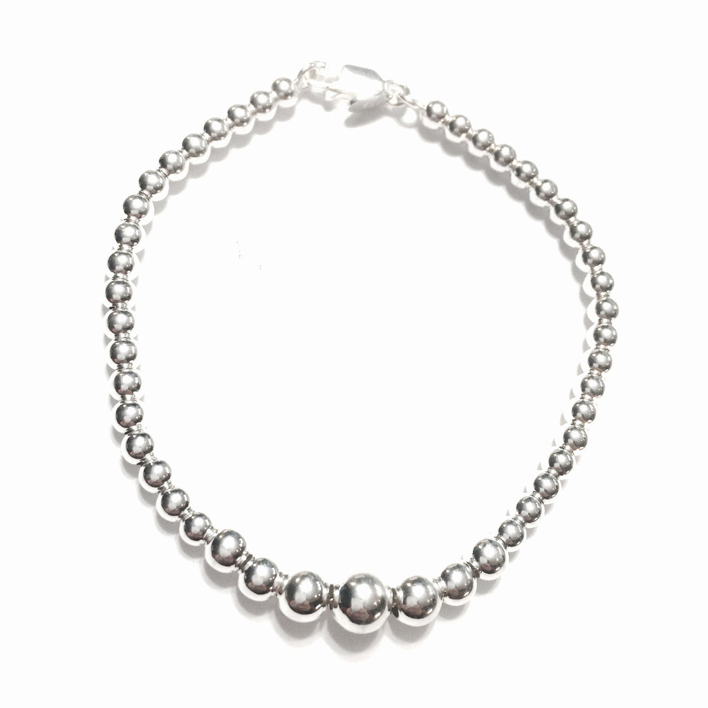Sterling Silver Princess Bracelet - Made in Italy