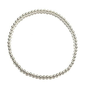 Sterling Silver 3mm Stretchy Ball Bracelet
