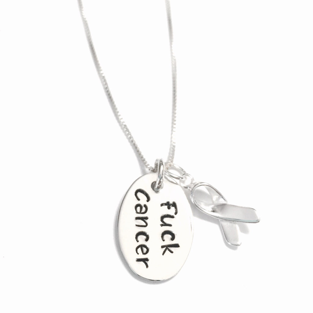 F - Cancer Sterling Silver Necklace