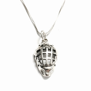 Sterling Silver Hockey Necklace with Custom Number Tag