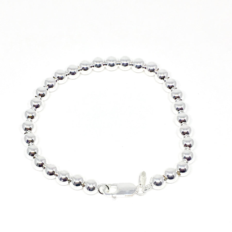 Sterling Silver Ball Bracelet (6mm) - Made In Italy