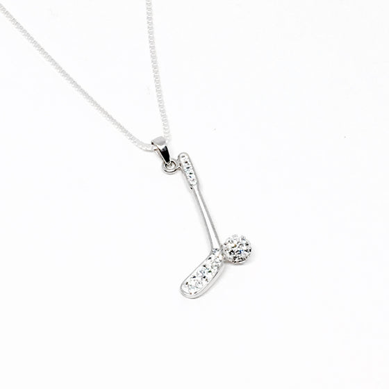 Sterling Silver & Cubic Z Golf Necklace