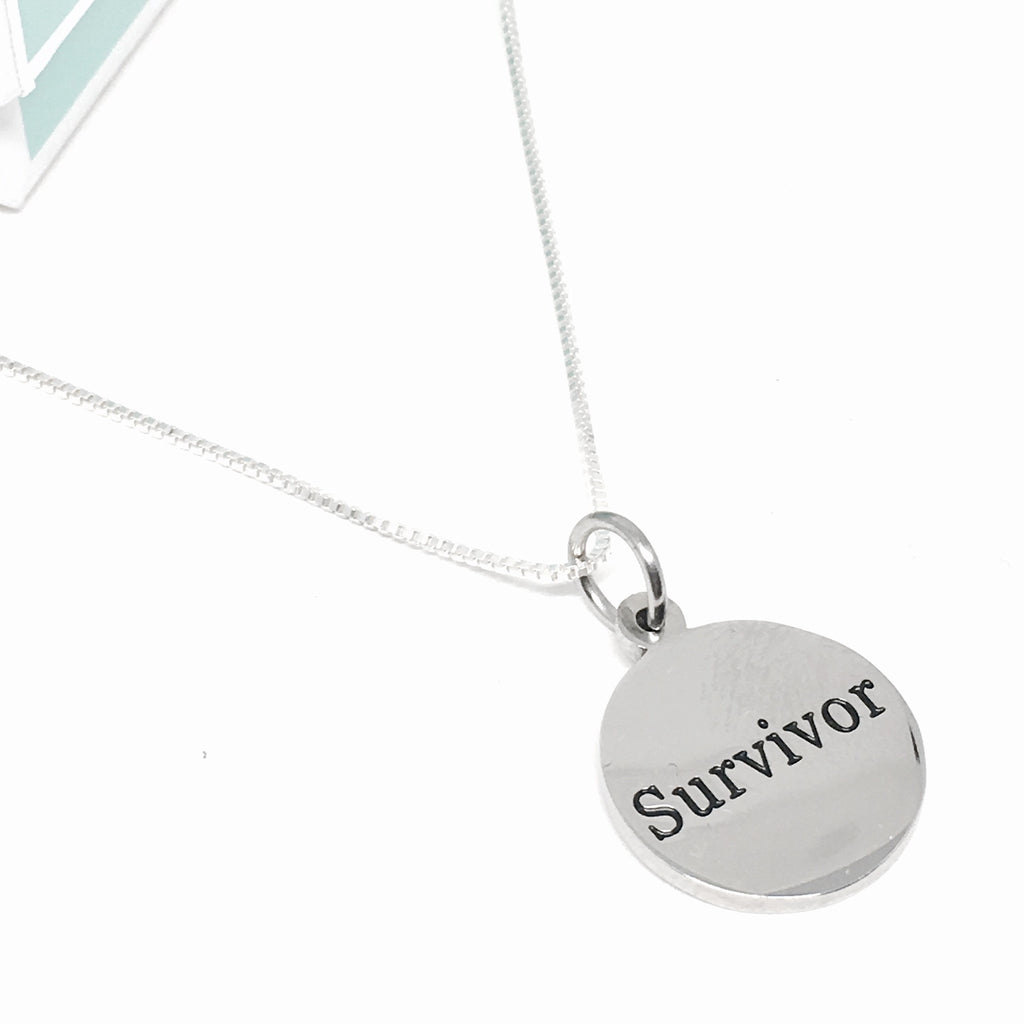 Silver & Stainless Survivor Necklace