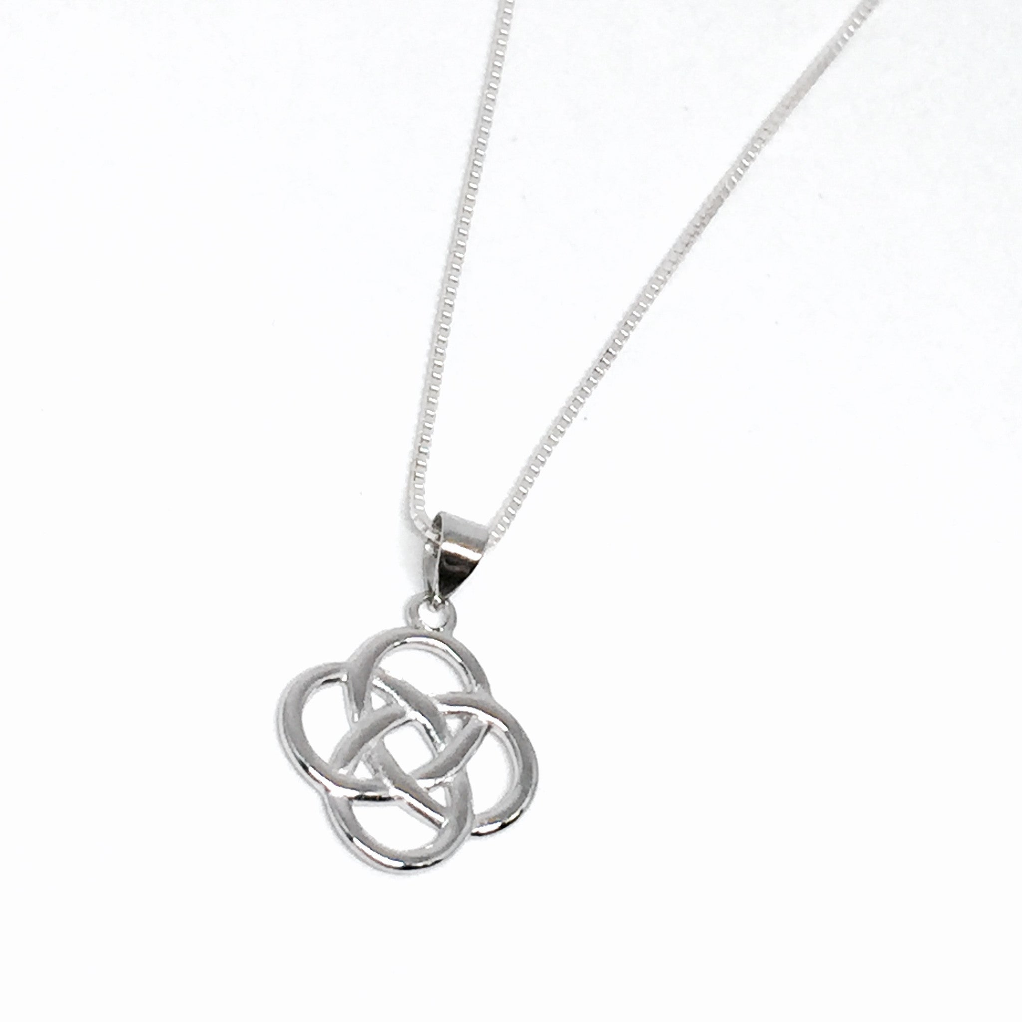 silver jewellery necklaces necklace knot pendant zoom open sterling simply