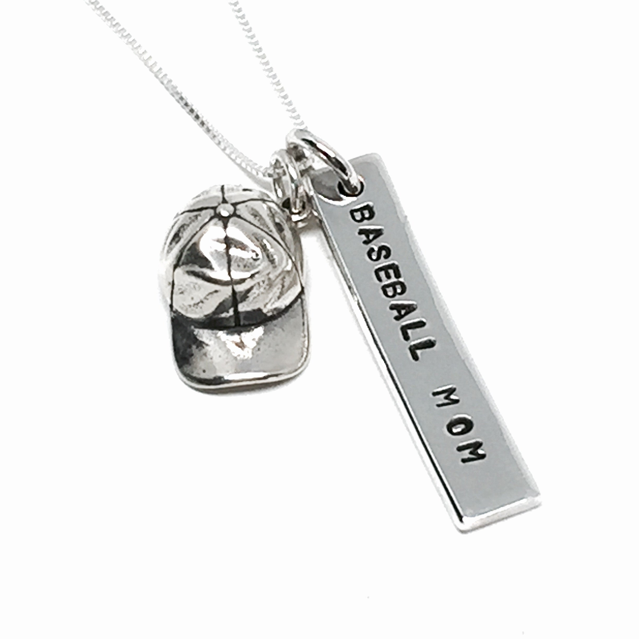 silver pendant products sports necklace baseball tinksjewelry girlfriend