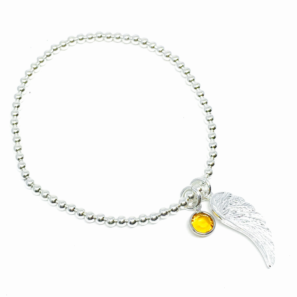 3mm Stretchy Ball Angel Bracelet