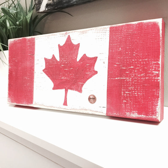 Proud Canadian Wood Block & Penny