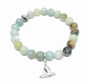 Yoga Meditation Bracelet - Natural Stone & Sterling Silver