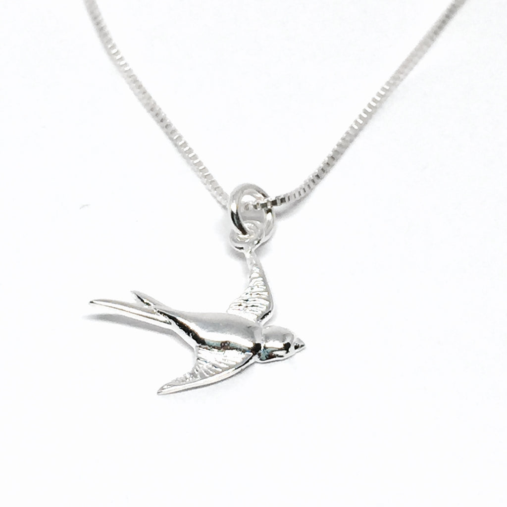 Sterling Silver Sparrow Necklace