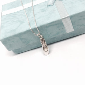 Sterling Silver Dance / Ballet Slipper Necklace
