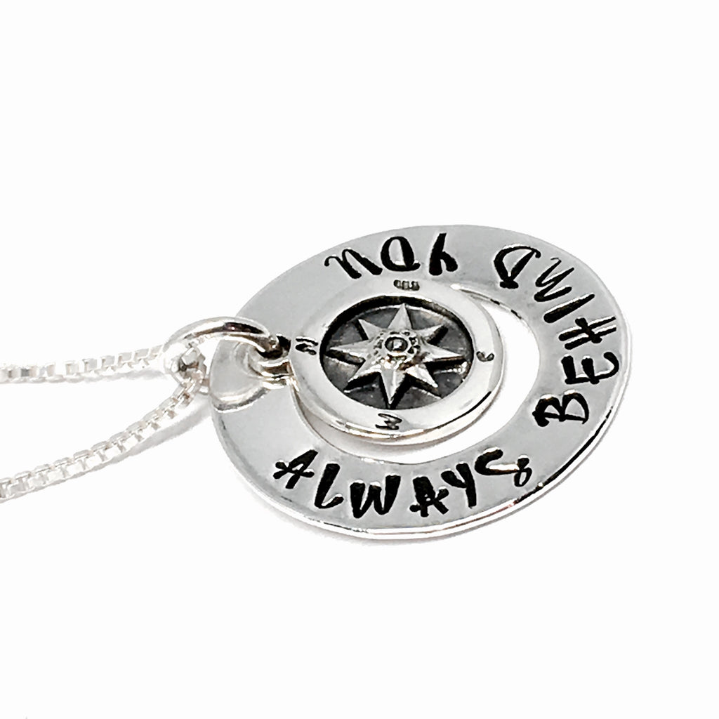 Custom Stamped Compass Necklace