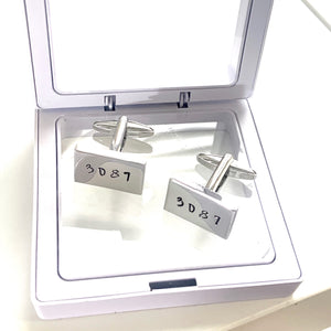 CUSTOM STAINLESS STEEL CUFF LINKS