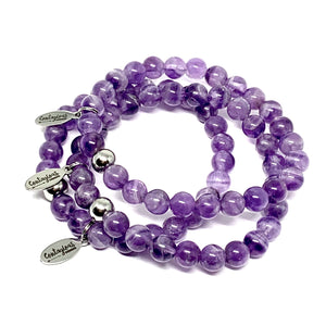 THE CALM AMETHYST MALA BRACELET