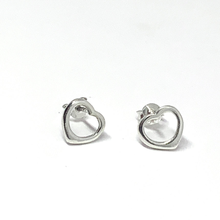 CLASSIC STERLING SILVER HEART EARRINGS