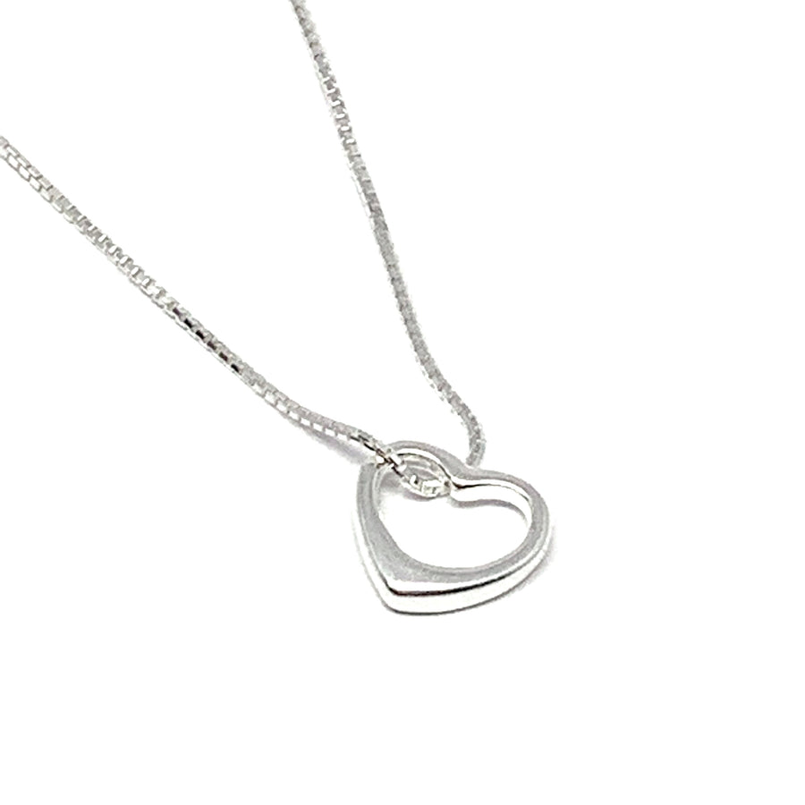 "THE ""MY GIRL"" SILVER HEART NECKLACE"